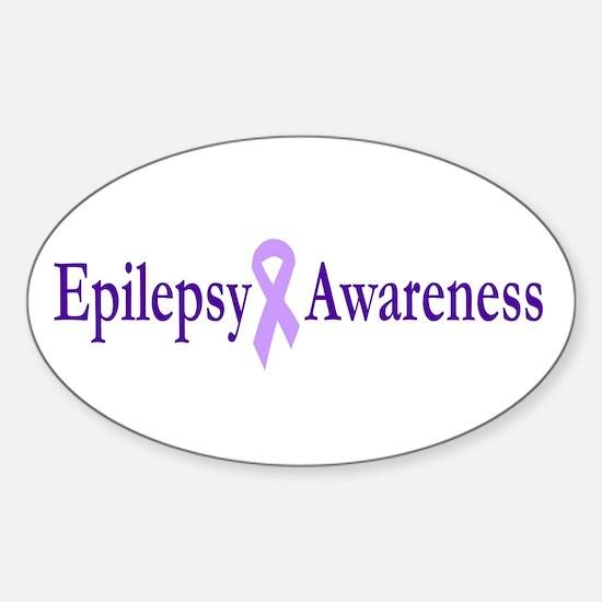 Epilepsy Awareness Oval Decal