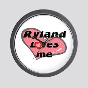 ryland loves me  Wall Clock