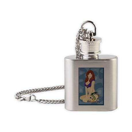 blueberrycrush_600dpi Flask Necklace