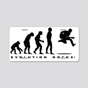 evolution rocks Aluminum License Plate