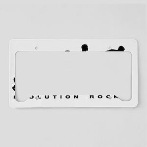 evolution rocks License Plate Holder