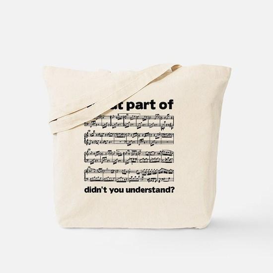 Partiture Tote Bag
