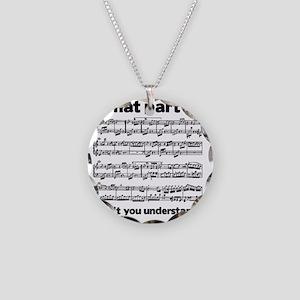 Partiture Necklace Circle Charm