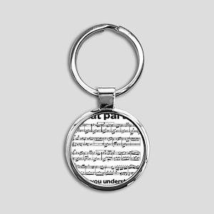 Partiture Round Keychain