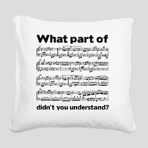 Partiture Square Canvas Pillow