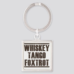 whiskey Square Keychain