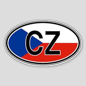 Czech Repbulic Euro Oval Sticker