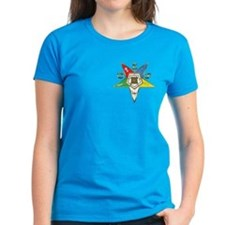 OES Star with gold colored trim Women's Dark T-Shi