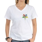 OES Star with gold colored trim Women's V-Neck T-S