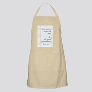 Promoting Literacy Apron