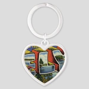 Ely_PrintFramed Heart Keychain