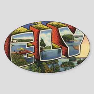 Ely_PrintFramed Sticker (Oval)
