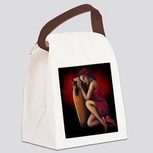 Salsa Heartbeat Canvas Lunch Bag
