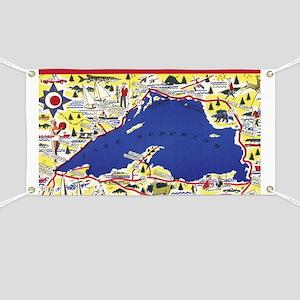 Lake Michigan Circle Tour Banners CafePress - Lake michigan circle tour map