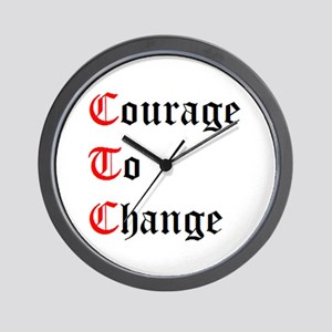 Courage To Change Wall Clock