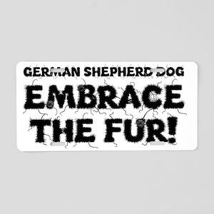 German Shepherd Dog Aluminum License Plate