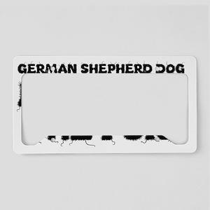 German Shepherd Dog License Plate Holder