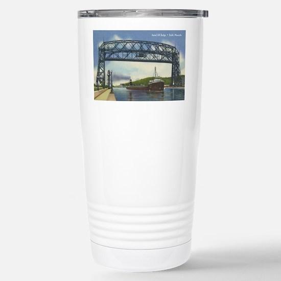 LiftBridge_Print Stainless Steel Travel Mug