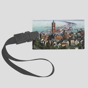HillsideView_PrintFramed Large Luggage Tag