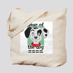 Year of Dog Dalmation Pup Tote Bag