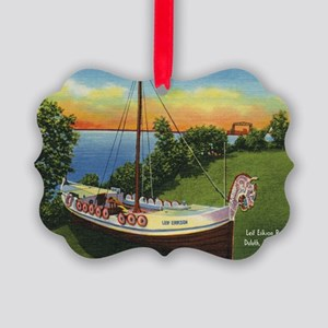 LeifErikson_PrintFramed Picture Ornament