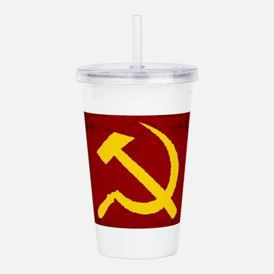 russia ussr hammer and Acrylic Double-wall Tumbler