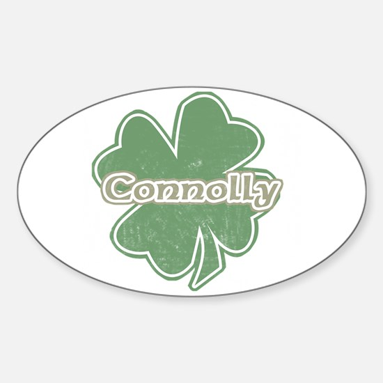 """""""Shamrock - Connelly"""" Oval Decal"""