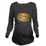 Bagel and Cream Cheese Long Sleeve Maternity T-Shi
