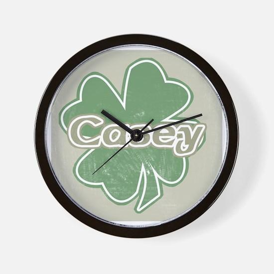 """Shamrock - Casey"" Wall Clock"