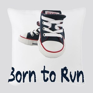 Born To Run_boy Woven Throw Pillow
