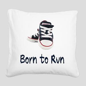 Born To Run_boy Square Canvas Pillow