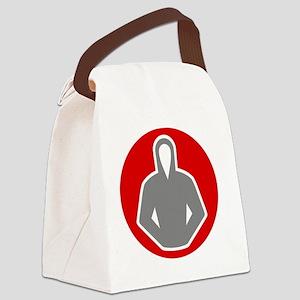 gray_hood_07 Canvas Lunch Bag