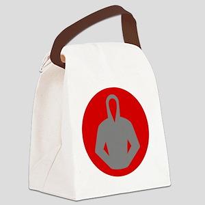 gray_hood_08 Canvas Lunch Bag