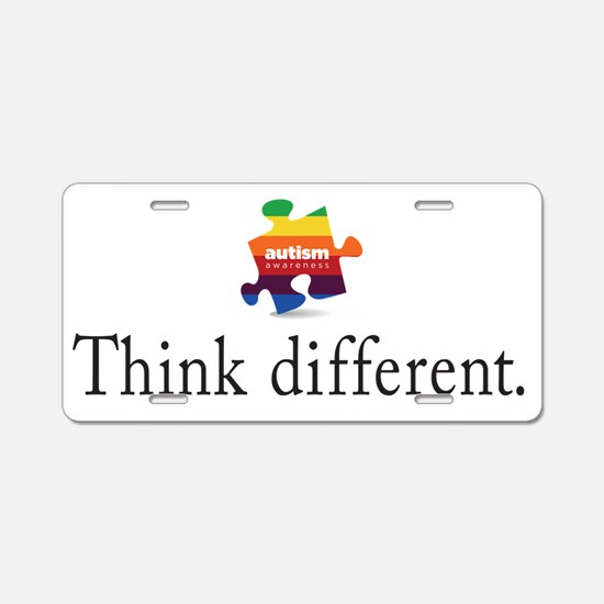 think different Aluminum License Plate