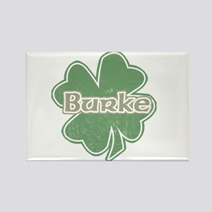 """Shamrock - Burke"" Rectangle Magnet"