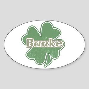 """""""Shamrock - Burke"""" Oval Sticker"""