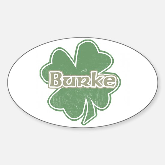 """Shamrock - Burke"" Oval Decal"