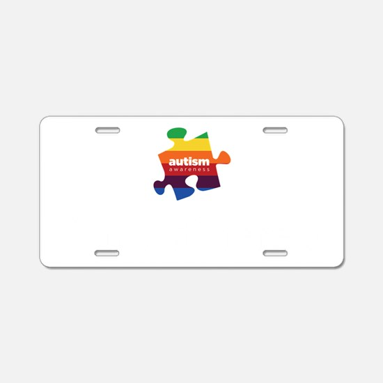 think different dark Aluminum License Plate