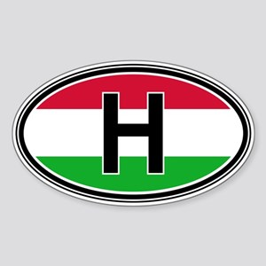 Hungary Euro Oval Sticker