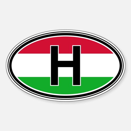 Hungary Euro Oval Decal