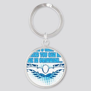 TWO_PLACES_SHIRT Round Keychain