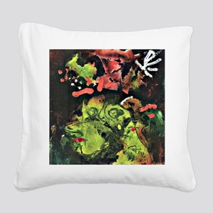 Klee: Frau im Sontagsstat, Pa Square Canvas Pillow