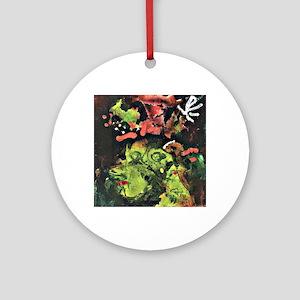 Klee: Frau im Sontagsstat, Paul Kle Round Ornament