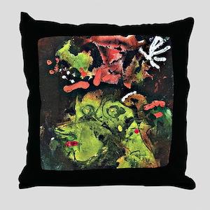 Klee: Frau im Sontagsstat, Paul Klee  Throw Pillow