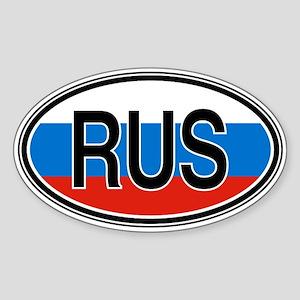 Russia Euro Oval Sticker