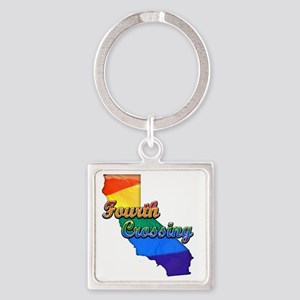 Fourth Crossing Square Keychain