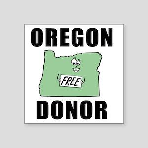 """OregonDonor Square Sticker 3"""" x 3"""""""