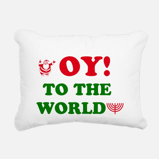 Oy To the World Rectangular Canvas Pillow