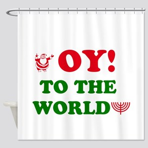 Oy To the World Shower Curtain