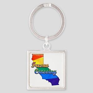 Fresno Crossing Square Keychain
